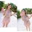 พร้อมส่ง ชุดว่ายน้ำกางเกงกระโปรง เซ็ต 3 ชิ้น สีส้มโอรส (บรา+กางเกงกระโปรง+เสื้อคลุมผ้าซีทรูลายดอกไม้) thumbnail 2