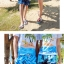 เสื้อคู่รัก ชุดคู่รักเที่ยวทะเลชาย +หญิง เสื้อยืดสีขาวลายคนติดเกาะ กางเกงขาสั้นลายต้นมะพร้าวโทนสีฟ้า +พร้อมส่ง+ thumbnail 8