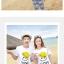 เสื้อคู่รัก ชุดคู่รักเที่ยวทะเลชาย +หญิง เสื้อยืดสีขาวลายยิ้ม I Love กางเกงขาสั้นลายไทย สีดำ +พร้อมส่ง+ thumbnail 2