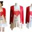 เสื้อยืดคลุมท้องพร้อมเสื้อกั้กสีแดง สกีนลายหัวใจ รหัส SH111 thumbnail 2