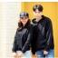 เสื้อกันหนาวคู่รักพร้อมส่ง แฟชั่นคู่รัก ชาย +หญิงเสื้อกันหนาวแบบสวม มีฮูด สีดำ thumbnail 6
