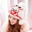 หมวกไหมพรมแฟชั่นเกาหลีพร้อมส่ง ทรงดีไซต์เก๋ แต่งจุก ปิดหู ด้านหน้าแต่งลายกระต่าย หมวกสีขาว thumbnail 1