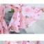 ชุดเสื้อคู่รักเที่ยวทะเล ชายเสื้อยืดพร้อมกางเกงขาสั้น + เดรสแขนยาว สีชมพู แต่งลายดอกไม้ +พร้อมส่ง สำเนา thumbnail 6
