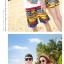 เสื้อคู่รัก ชุดคู่รักเที่ยวทะเลชาย +หญิง เสื้อยืดสีขาวลายแถบสี รองเท้า กางเกงขาสั้นลายแถบสีหลากสี +พร้อมส่ง+ thumbnail 7
