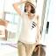 เสื้อคลุมท้องแขนสั้น แถบสามเหลี่ยมสีขาว-ดำ รหัส SH050 thumbnail 6