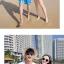 เสื้อคู่รัก ชุดคู่รักเที่ยวทะเลชาย +หญิง เสื้อยืดสีขาวลายคู่รักสวีทเที่ยวทะเล กางเกงขาสั้นลายมะพร้าวโทนสีฟ้า +พร้อมส่ง+ thumbnail 7