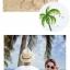 เสื้อคู่รัก ชุดคู่รักเที่ยวทะเลชาย +หญิง เสื้อยืดสีขาวคนนั่งใต้ต้นมะพร้าว กางเกงขาสั้นโทนสีกรมม่วง +พร้อมส่ง+ thumbnail 5