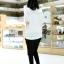 กางเกงฮาเร็มคลุมท้อง ขาขาว : สีดำ รหัส PN111 thumbnail 4