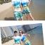 เสื้อคู่รัก ชุดคู่รักเที่ยวทะเลชาย +หญิง เสื้อยืดสีขาวลายคู่รักสวีทเที่ยวทะเล กางเกงขาสั้นสีเขียว +พร้อมส่ง+ thumbnail 3