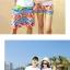 เสื้อคู่รัก ชุดคู่รักเที่ยวทะเลชาย +หญิง เสื้อยืดสีขาวลายแว่นตา กางเกงขาสั้นลายไทยโทนสีส้ม +พร้อมส่ง+ thumbnail 6