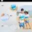 เสื้อคู่รัก ชุดคู่รักเที่ยวทะเลชาย +หญิง เสื้อยืดสีขาวลายคู่รักสวีทเที่ยวทะเล กางเกงขาสั้นลายแฉกโทนสีฟ้า +พร้อมส่ง+ thumbnail 2