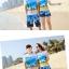 เสื้อคู่รัก ชุดคู่รักเที่ยวทะเลชาย +หญิง เสื้อยืดสีขาวลายคู่รักสวีทเที่ยวทะเล กางเกงขาสั้นลายต้นมะพร้าวโทนสีฟ้า +พร้อมส่ง+ thumbnail 5