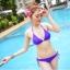 พร้อมส่ง ชุดว่ายน้ำ Bikini ผูกข้าง สายคล้องคอ สุดเซ็กซี่ thumbnail 1