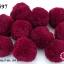 ปอมปอมไหมพรม สีแดงเลือดหมู 5 ซม. (10 ลูก) thumbnail 1