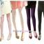 กางเกงเลคกิ้งคลุมท้องผ้าคอตตอน ขายาว : สีดำ รหัส PN052 thumbnail 7