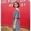 เสื้อผ้าแฟชั่นสไตส์เกาหลี เดรสสายเดี่ยว สีฟ้า แต่งจั้มแขน ผูกเอว +พร้อมส่ง+ thumbnail 2