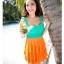 พร้อมส่ง ชุดว่ายน้ำทรงแซก เซ็ต 2 ชิ้น โทนสีเขียวส้ม ชุดแซกแต่งระบายน่ารักมากๆ (ชุดแซก + กางเกงขาสั้น) thumbnail 13