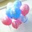 """ลูกโป่งกลมพิมพ์ลาย 1st Birthday สีชมพูอ่อน แพ็คละ 10 ใบ(Round Balloons 12"""" - Printing 1st Birthday Light Pink color) thumbnail 4"""