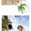 เสื้อคู่รัก ชุดคู่รักเที่ยวทะเลชาย +หญิง เสื้อยืดสีขาวคนนั่งใต้ต้นมะพร้าว กางเกงขาสั้นสีเขียว +พร้อมส่ง+ thumbnail 7