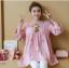 K115340 เสื้อคลุมท้องแฟชั่้นเกาหลี โทนสีชมพูแต่งลายปักรูปสัปรด thumbnail 6