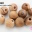ลูกปัดไม้ กลม สีไม้ธรรมชาติ 23มิล (10เม็ด) thumbnail 1