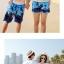 เสื้อคู่รัก ชุดคู่รักเที่ยวทะเลชาย +หญิง เสื้อยืดสีขาวลายคู่รักสวีทเที่ยวทะเล กางเกงขาสั้นลายต้นมะพร้าวโทนสีฟ้า +พร้อมส่ง+ thumbnail 4