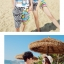 เสื้อคู่รัก ชุดคู่รักเที่ยวทะเลชาย +หญิง เสื้อยืดสีขาวลายสวีทริมทะเล กางเกงขาสั้นลายเส้น +พร้อมส่ง+ thumbnail 6