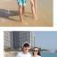 เสื้อคู่รัก ชุดคู่รักเที่ยวทะเลชาย +หญิง เสื้อยืดสีขาวลายคู่รักสวีทเที่ยวทะเล กางเกงขาสั้นสีเขียว +พร้อมส่ง+ thumbnail 5