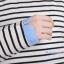 ชุดคลุมท้องเปิดให้นมแขนยาว : สีฟ้า-ขาว รหัส MN049 thumbnail 5