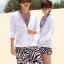 PRE กางเกงขาสั้นคู่รัก Couple beach pant ลายม้าลายสุดชิค thumbnail 1