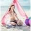 พร้อมส่ง ชุดว่ายน้ำ Bikini ผูกข้าง ทูพีซ บราโทนสีส้มอ่อนๆ ลายโบฮีเมียนสวยๆ thumbnail 7