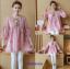 K115340 เสื้อคลุมท้องแฟชั่้นเกาหลี โทนสีชมพูแต่งลายปักรูปสัปรด thumbnail 1