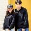 เสื้อกันหนาวคู่รักพร้อมส่ง แฟชั่นคู่รัก ชาย +หญิงเสื้อกันหนาวแบบสวม มีฮูด สีดำ thumbnail 1
