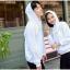 เสื้อกันหนาวคู่รักพร้อมส่ง แฟชั่นคู่รัก ชาย +หญิงเสื้อกันหนาวแบบสวม มีฮูด สีขาว แต่งลายใบไม้ thumbnail 8