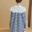 K96004 เสื้อคลุมท้องแฟชั่นเกาหลี ลายตาราง คอบัวแต่งด้วยผ้าลูกไม้ ใส่แล้วน่ารักมากๆ ค่ะ thumbnail 6