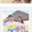 เสื้อคู่รัก ชุดคู่รักเที่ยวทะเลชาย +หญิง เสื้อยืดสีขาวลายคนยืนดูท้องฟ้า กางเกงขาสั้นลายแถบสี +พร้อมส่ง+ thumbnail 2