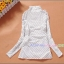 เสื้อคลุมท้องลายไม้แขนยาว ลายดอกไม้ : สีขาว รหัส SH178 thumbnail 8