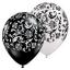 """ลูกโป่งกลมพิมพ์ลาย Damask Print Balloons (Black & White) แพ็คละ 10 ใบ(Round Balloons 12""""- Printing Damask Print Balloons (Black & White) thumbnail 1"""