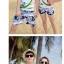 เสื้อคู่รัก ชุดคู่รักเที่ยวทะเลชาย +หญิง เสื้อยืดสีขาวคนนั่งใต้ต้นมะพร้าว กางเกงขาสั้นโทนสีกรมม่วง +พร้อมส่ง+ thumbnail 3