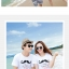 เสื้อคู่รัก ชุดคู่รักเที่ยวทะเลชาย +หญิง เสื้อยืดสีขาวลายหนวด กางเกงขาสั้นลายไทยสีดำ +พร้อมส่ง+ thumbnail 3