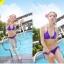 พร้อมส่ง ชุดว่ายน้ำ Bikini ผูกข้าง สายคล้องคอ สุดเซ็กซี่ thumbnail 4
