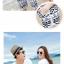 เสื้อคู่รัก ชุดคู่รักเที่ยวทะเลชาย +หญิง เสื้อยืดสีขาวลายหนวด กางเกงขาสั้นลายไทยสีดำ +พร้อมส่ง+ thumbnail 6