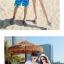 เสื้อคู่รัก ชุดคู่รักเที่ยวทะเลชาย +หญิง เสื้อยืดสีขาวลายคนติดเกาะ กางเกงขาสั้นลายต้นมะพร้าวโทนสีส้มฟ้า +พร้อมส่ง+ thumbnail 5