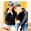 เสื้อกันหนาวคู่รักพร้อมส่ง แฟชั่นคู่รัก ชาย +หญิงเสื้อกันหนาวแบบสวม มีฮูด สีดำ thumbnail 10