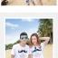 เสื้อคู่รัก ชุดคู่รักเที่ยวทะเลชาย +หญิง เสื้อยืดสีขาวลายหนวด กางเกงขาสั้นโทนสีกรมม่วง +พร้อมส่ง+ thumbnail 3