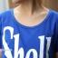 ชุดคลุมท้องเปิดให้นม สกีนลาย Shell : สีน้ำเงิน รหัส MN054 thumbnail 5