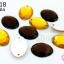 เพชรแต่ง ทรงรี สีเหลืองทอง+สีน้ำตาลเข้ม มีรู 13X18มิล(20ชิ้น) thumbnail 1