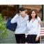 เสื้อกันหนาวคู่รักพร้อมส่ง แฟชั่นคู่รัก ชาย +หญิงเสื้อกันหนาวแบบสวม มีฮูด สีขาว แต่งลายใบไม้ thumbnail 7