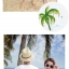 เสื้อคู่รัก ชุดคู่รักเที่ยวทะเลชาย +หญิง เสื้อยืดสีขาวคนนั่งใต้ต้นมะพร้าว กางเกงขาสั้นโทนสีกรมม่วง +พร้อมส่ง+ thumbnail 6