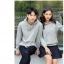 เสื้อกันหนาวคู่รักพร้อมส่ง แฟชั่นคู่รัก ชาย +หญิงเสื้อกันหนาวแบบสวม มีฮูด สีเทา thumbnail 6
